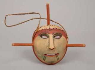 Small wooden mask